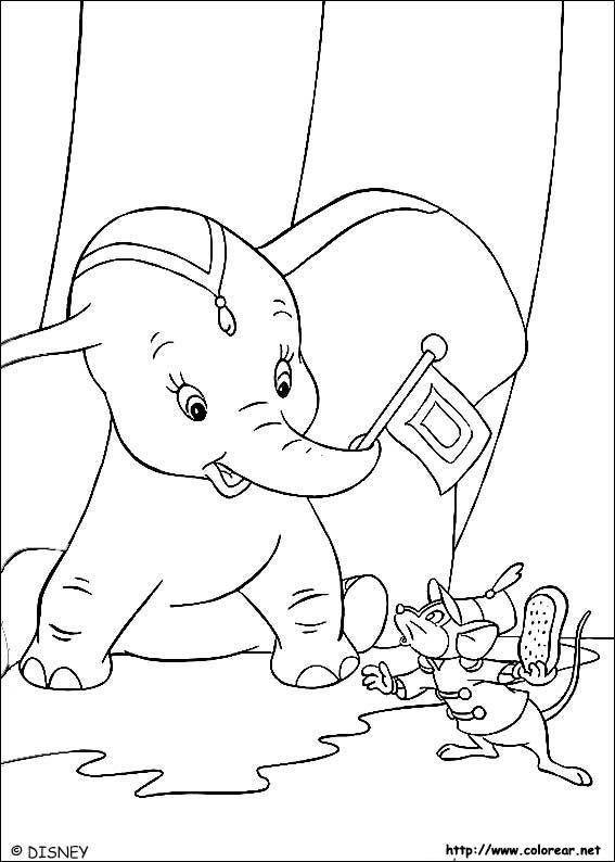 dibujos para colorear de dumbo | Baby shower | Pinterest