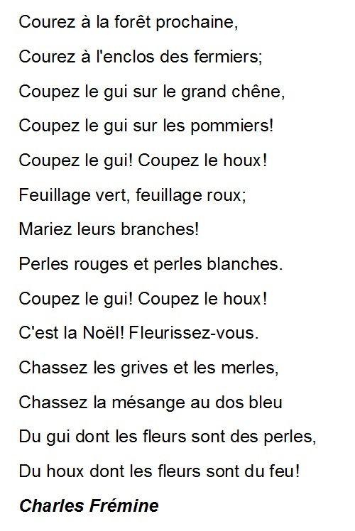 French poem C'est la Noel, fleurissez-vous from Charles Fremine by ...