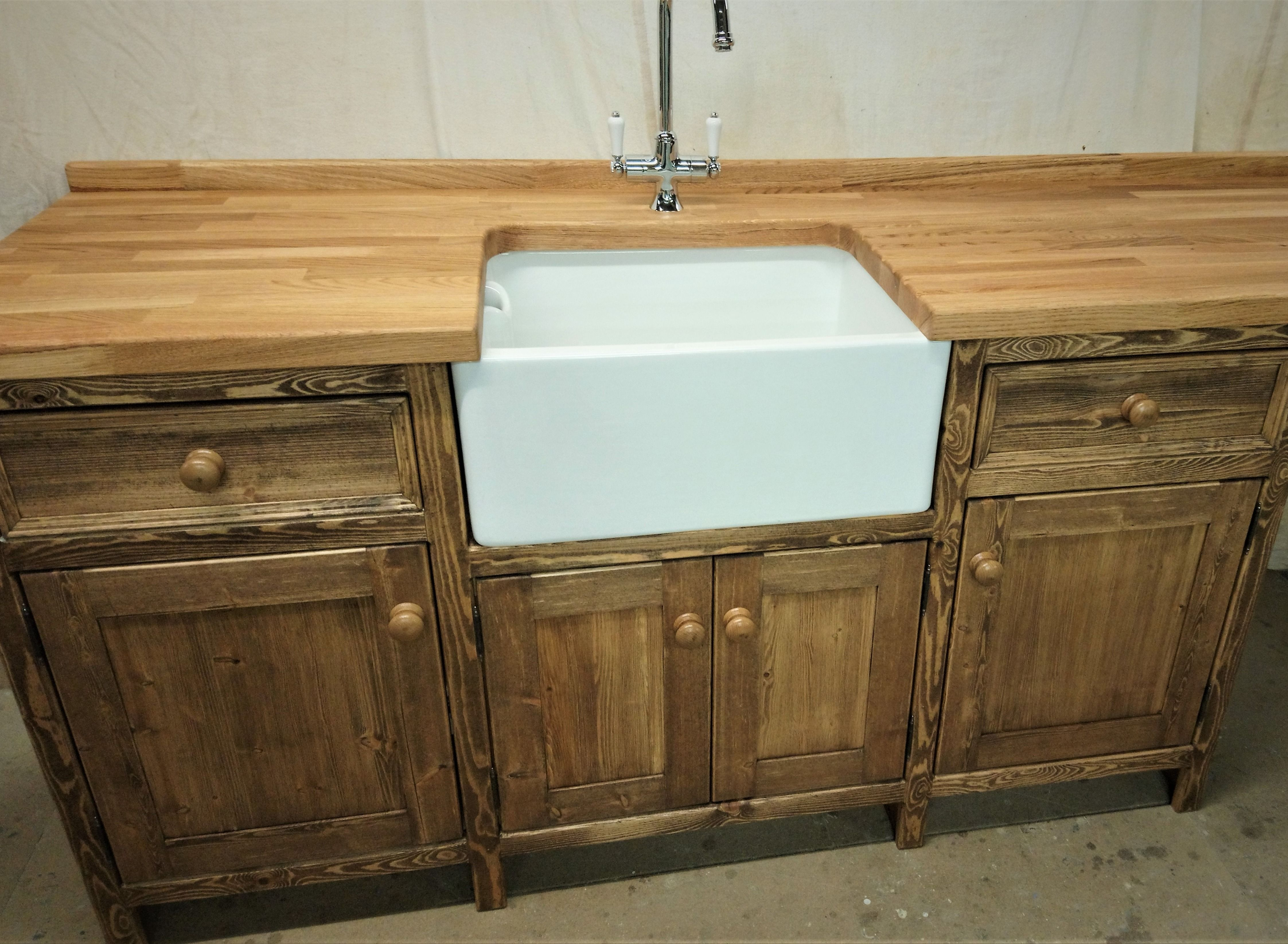 Our Kitchen Cabinets Are Always Made From Solid Pine Throughout And When We First Started Everyone Loved The Waxed Pine Lo Sink Units Kitchen Mood Board Sink