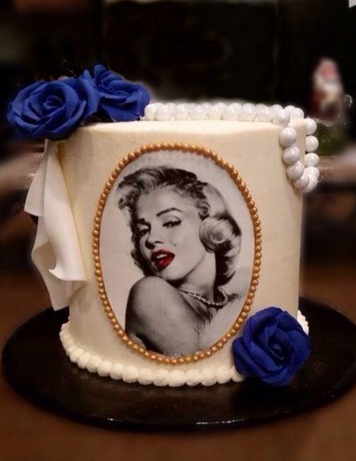Marilyn Monroe Cake Merlin Pinterest Cake Cake Decorating And