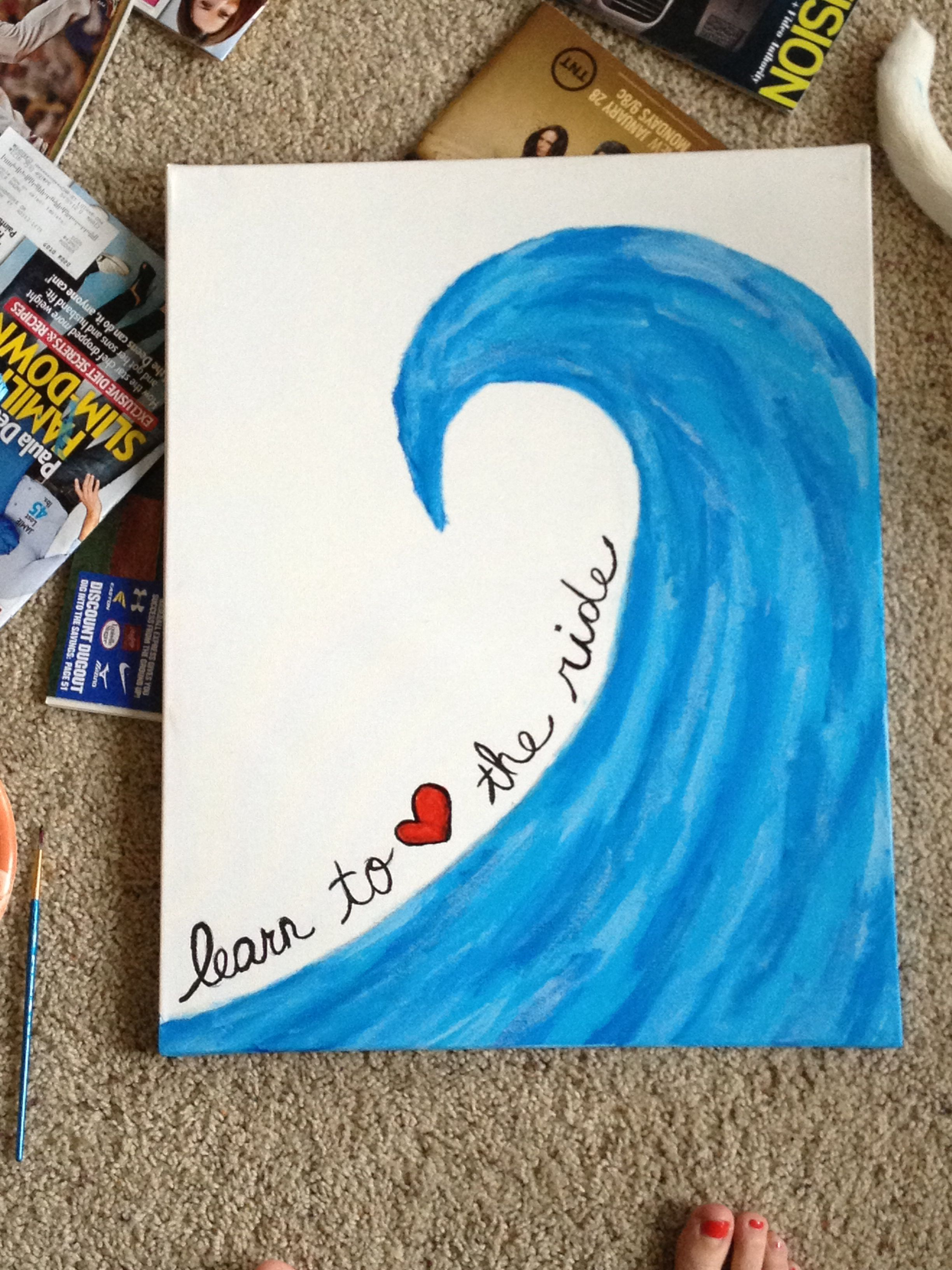 Learn to love the ride canvas art DIY painting