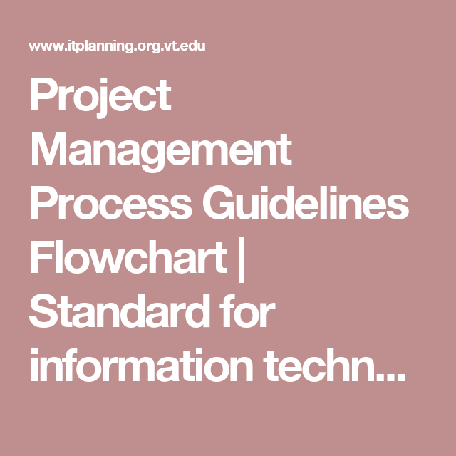 Project Management Process Guidelines Flowchart Standard For