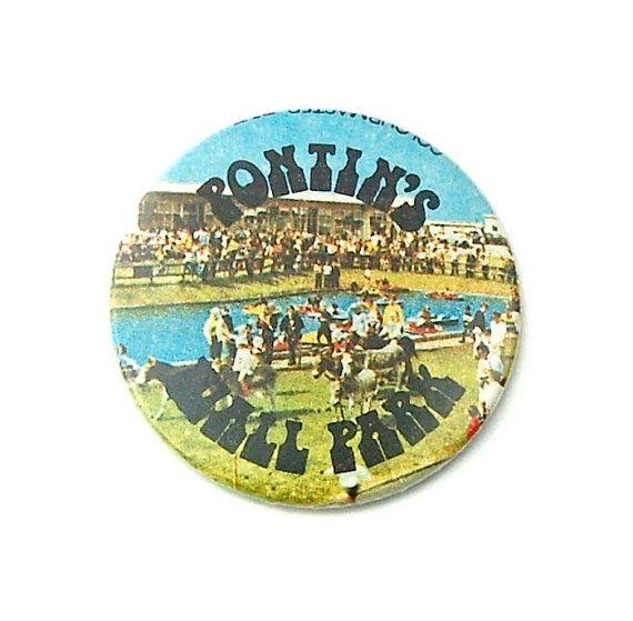 Vintage British Holiday Souvenir Badge - Pontin's Wall Park