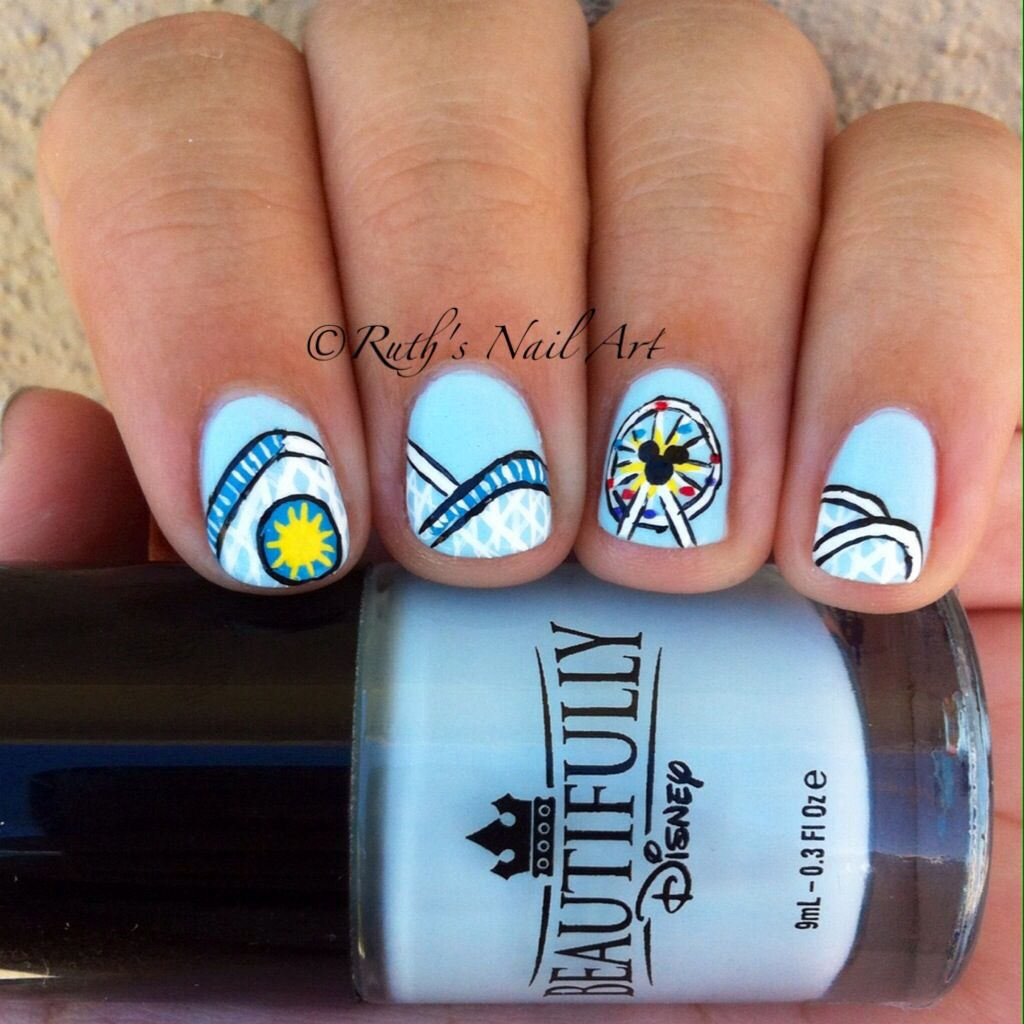 California Adventure Nails #nailart #disneyside #ruthsnailart #nails ...