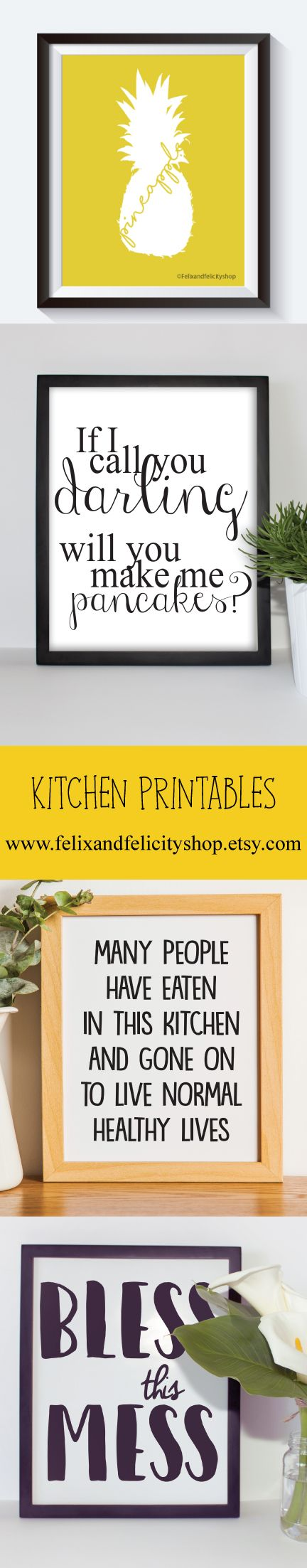 Kitchen, Printable art, quote print, wall quote, quote printable ...