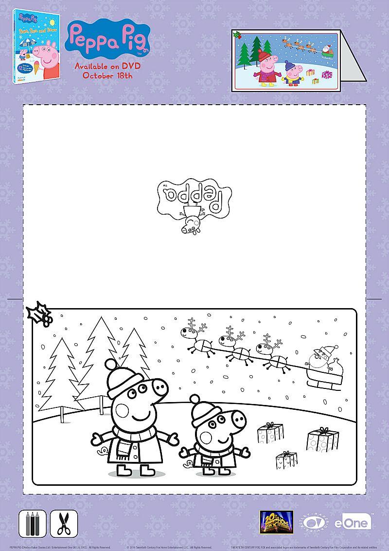 Peppa Pig Christmas Card Craft | Peppa pig christmas ...