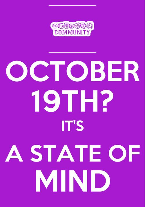 October 19th Is A State Of Mind Happy Birthday Gillian