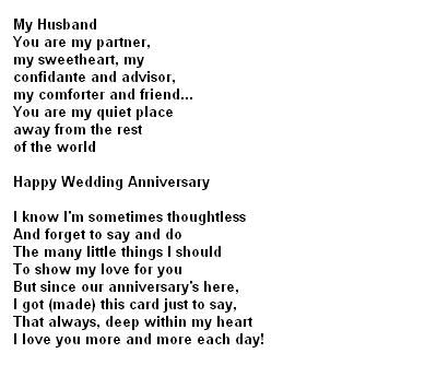 Anniversary Poems For Husband You Can Visit Personification Poems