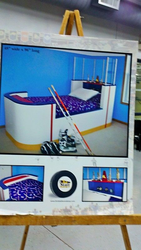 Hockey Rink Bed Cool Baby Room Decor Kids Room Hockey Bedroom