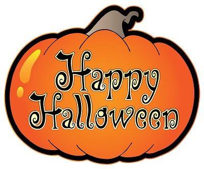 Halloween happy. Written on a pumpkin