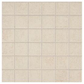 American Olean Sandy Ridge Almond Square Mosaic Ceramic Wall Tile - 4x4 almond wall tile
