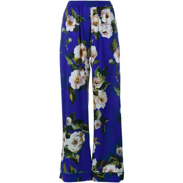 f0230ba4f4 Dolce   Gabbana Silk Pyjama Trousers (1 505 AUD) ❤ liked on Polyvore  featuring pants