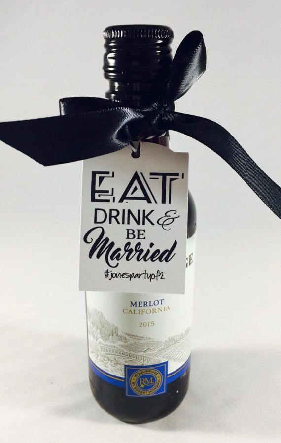 thank you eat eat drink and be married wedding favors thank you tags