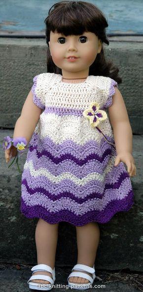 American Girl Doll Wisteria Chevron Dress Crochet Patterns