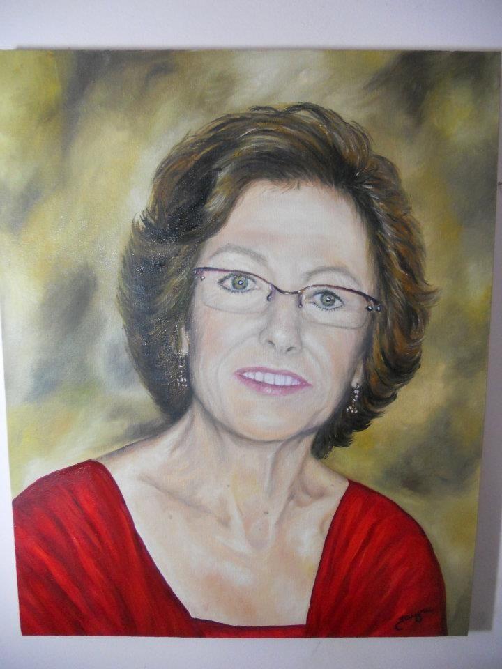 """Pintura em óleo sobre tela,  """"Retrato da Ester"""" by Jacyra"""