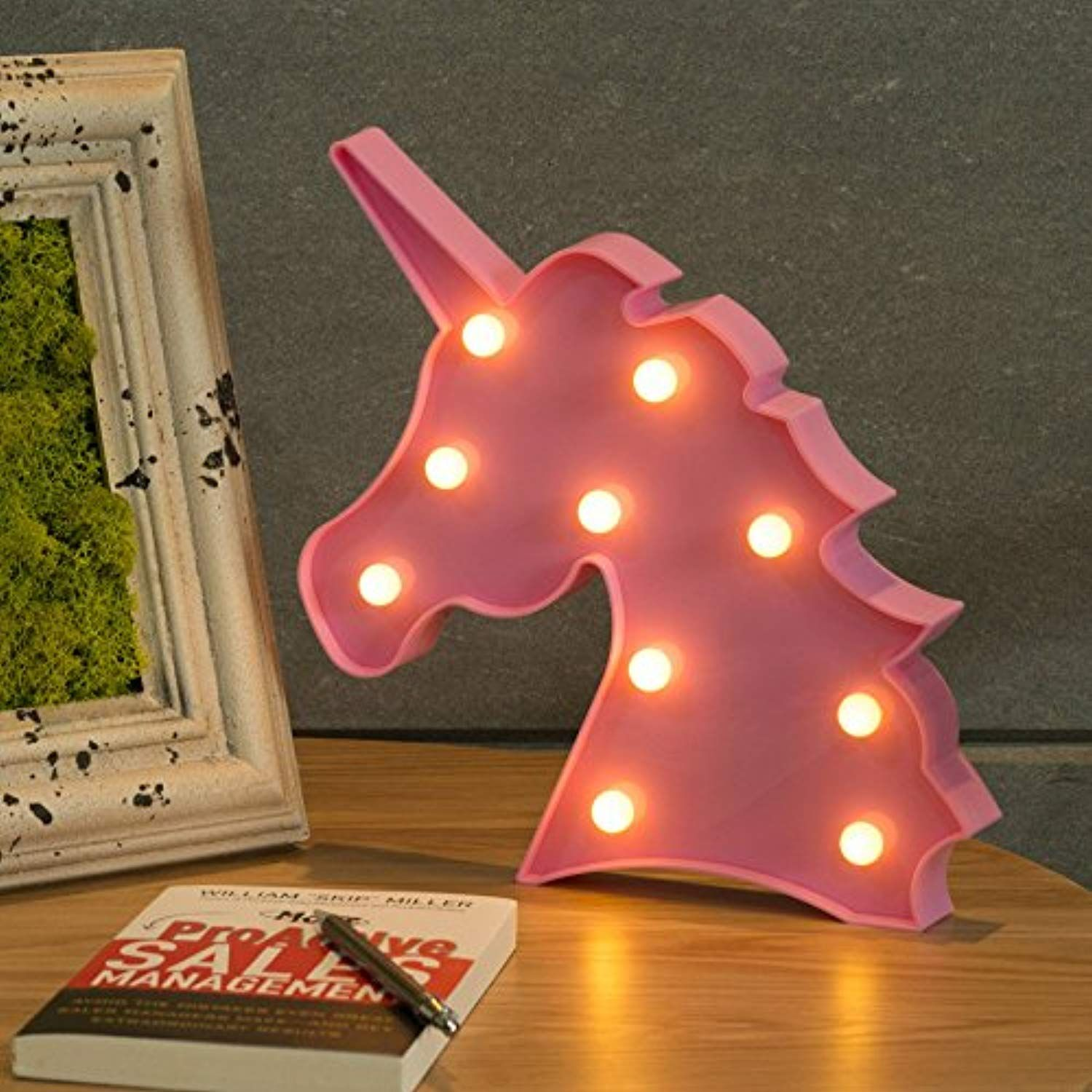 Unicorn Shaped LED Night Light Kids Lamp Table Nightlight Home Decoration