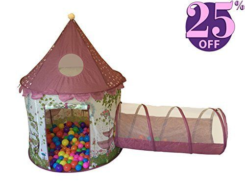 Designer Princess Castle Play Tents for Girls w/ Sunroof u0026 Tunnel - Unique Pop Up  sc 1 st  Pinterest & Designer Princess Castle Play Tents for Girls w/ Sunroof u0026 Tunnel ...