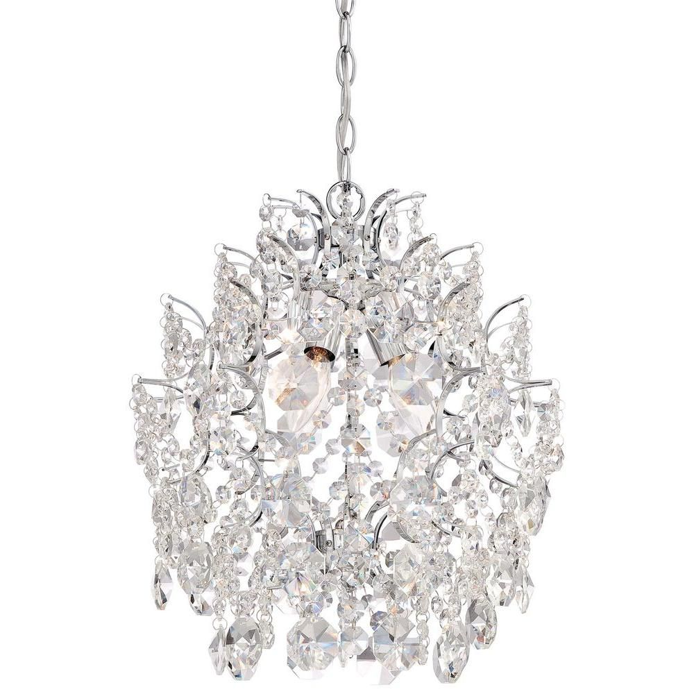 Minka lavery 3 light chrome mini chandelier 3150 77 the home depot