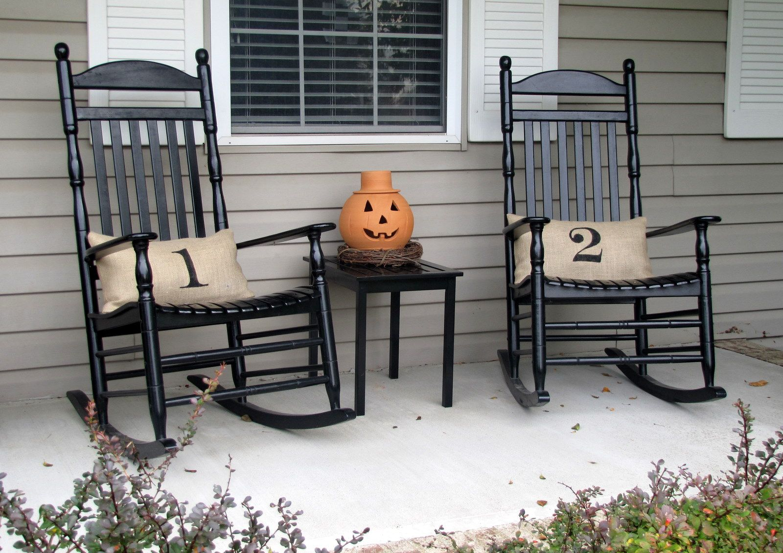 Fall Front Porch | Rocking chair porch, Porch chairs, Porch ...