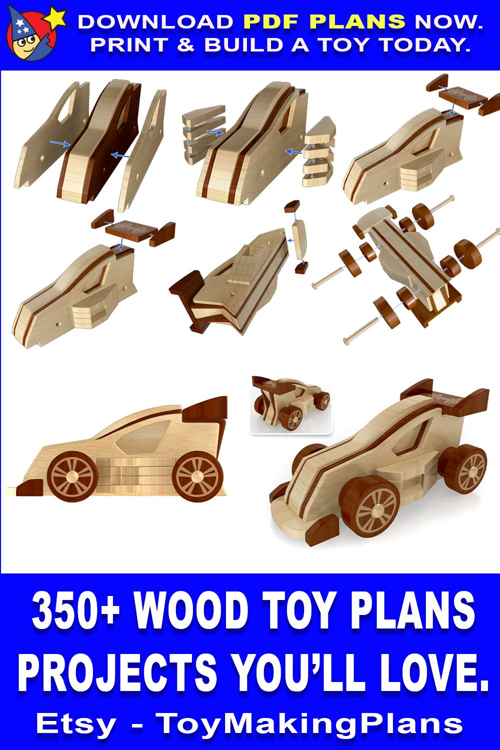 Scroll Saw Magic Boquiren Racing Gt Pro Pdf Download Etsy In 2021 Wood Toys Plans Scroll Saw How To Plan