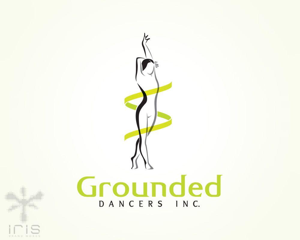 graphic female figure logo dance academy logo logo