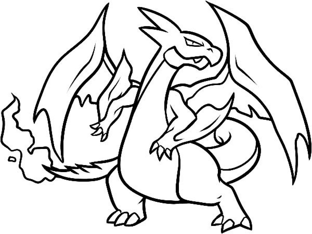 mega charizard x coloring pages for
