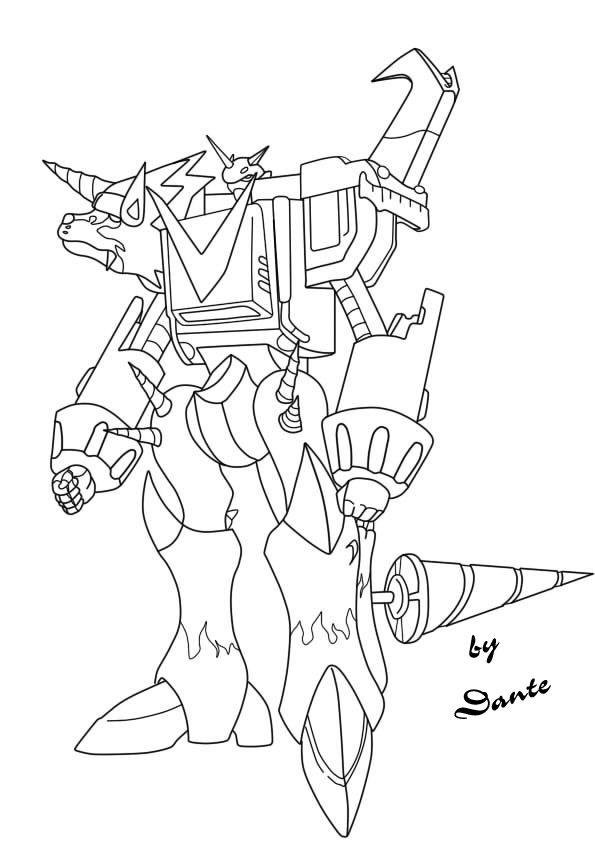 Commission 1 Shoutmon X3 By Dante947 Digimon Fusion Art Digimon