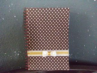 Infinitas possibilidades: Encapando caderno com tecido