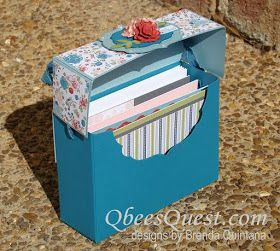 Qbee S Quest Note Card Box Tutorial Card Box Note Cards Paper Crafts Cards