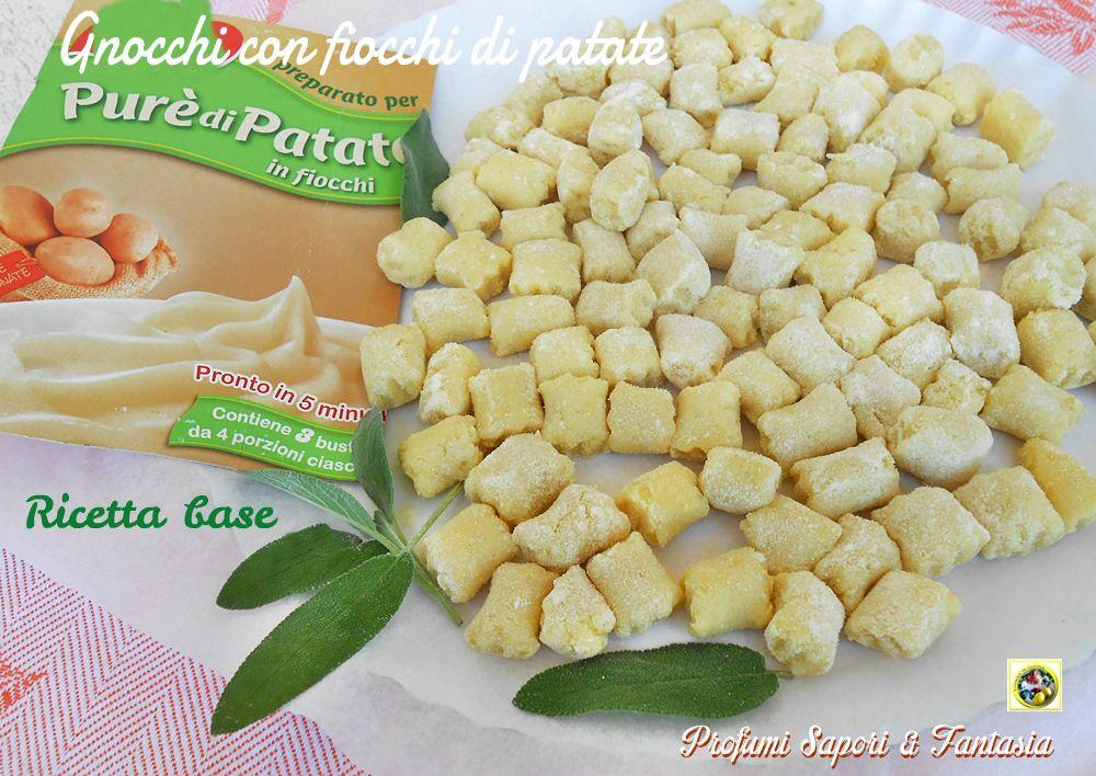 Ricetta Gnocchi Con I Fiocchi Di Patate.Gnocchi Con Fiocchi Di Patate Ricetta Base Ricette Patate Gnocchi