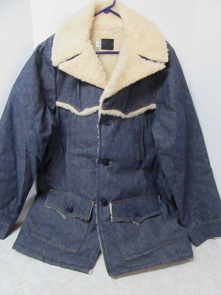 Details About Vintage Usa Levis Sherpa Lined Dark Denim Trucker Jean