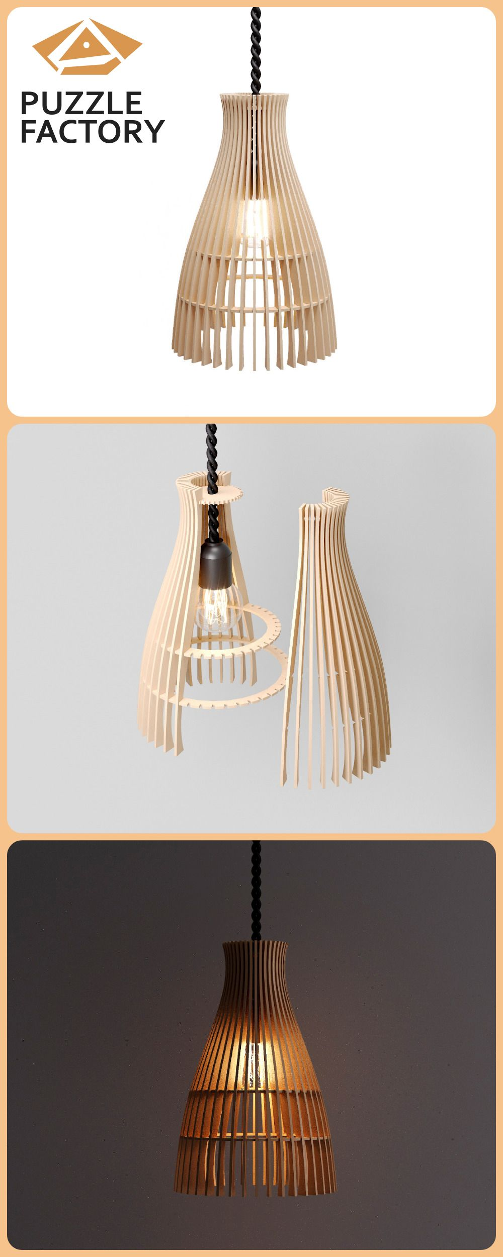 Pin on Puzzle factory Wood Lamps