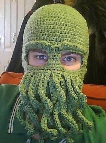 fc7f4891df9 cthulhu ski mask Crochet Mask