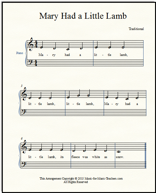 Made-easy notes for Mary Had a Little Lamb | My Music Wall | Pinterest