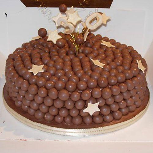 ideas para decorar una torta de cumpleaos con bolitas de chocolate