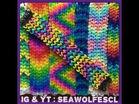Loose Knit Bracelet on the Rainbow Loom - YouTube