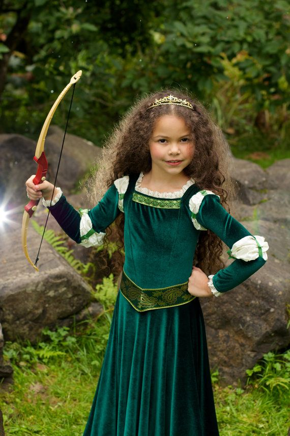 merida costume brave inspired princess gown by elladynae on etsy disney kost m costume