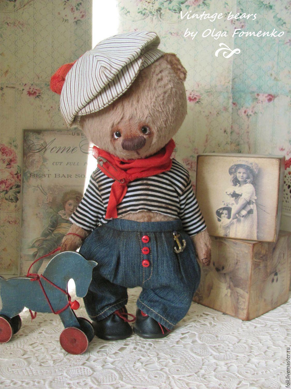 Купить Мишка Томас - мишка, тедди, коллекционный мишка, мишка в подарок, винтаж, ретро, подарок