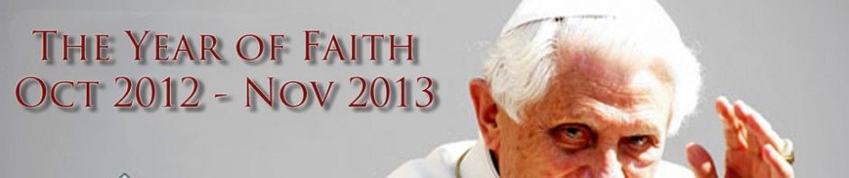 Catholic Year of Faith Blog | Celebrating the Year of Faith called by Pope Benedict XVI - I AM beyond excited for this special year!!  My book (a Faith Sharing - will be out in October - and a perfect compliment to this call by Pope Benedict!)