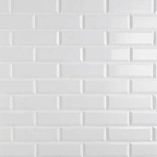 carrelage mural plaquetas en fa ence blanc 10 x 30 cm. Black Bedroom Furniture Sets. Home Design Ideas