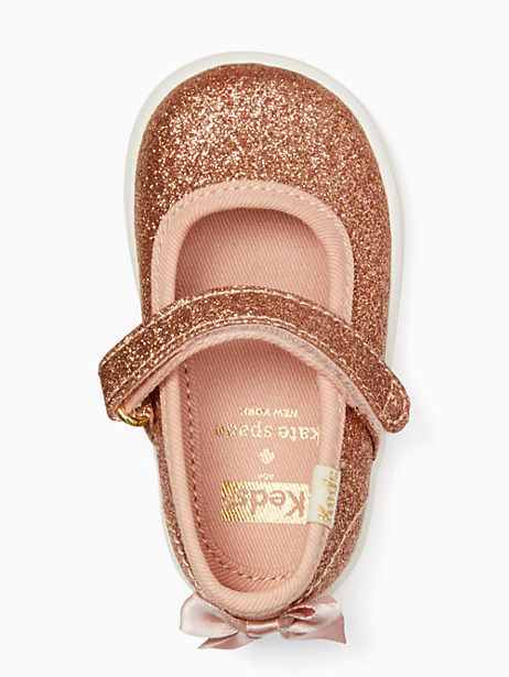 519a3e63a Keds X Kate Spade New York Sloan Mary Jane Crib Sneakers, Rose Gold - Size 3