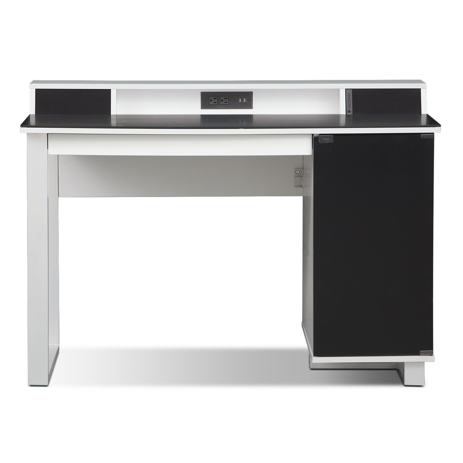 Home office furniture pacer home office desk with sound white