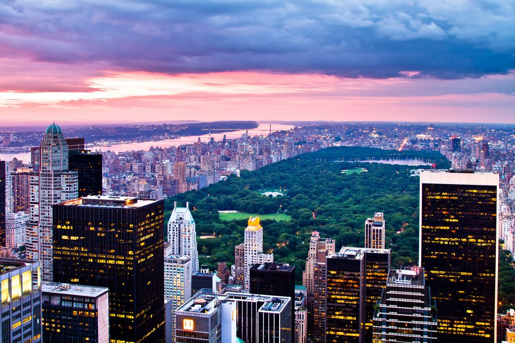 Central Park At Sunset New York City Central Park New York City Background New York Wallpaper