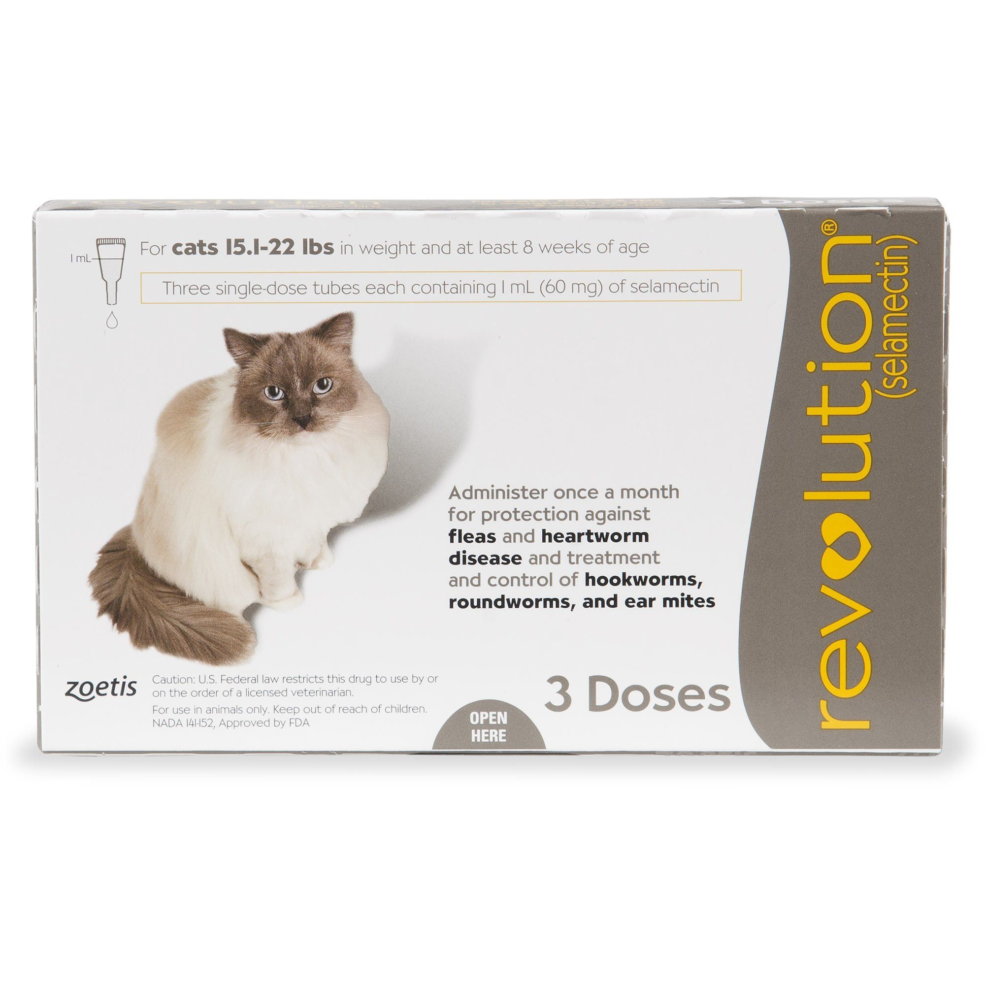 Revolution Topical Solution For Cats 15 1 22 Lbs Taupe 3 Pack 3 Ct In 2019 Cat Fleas Cats Fleas