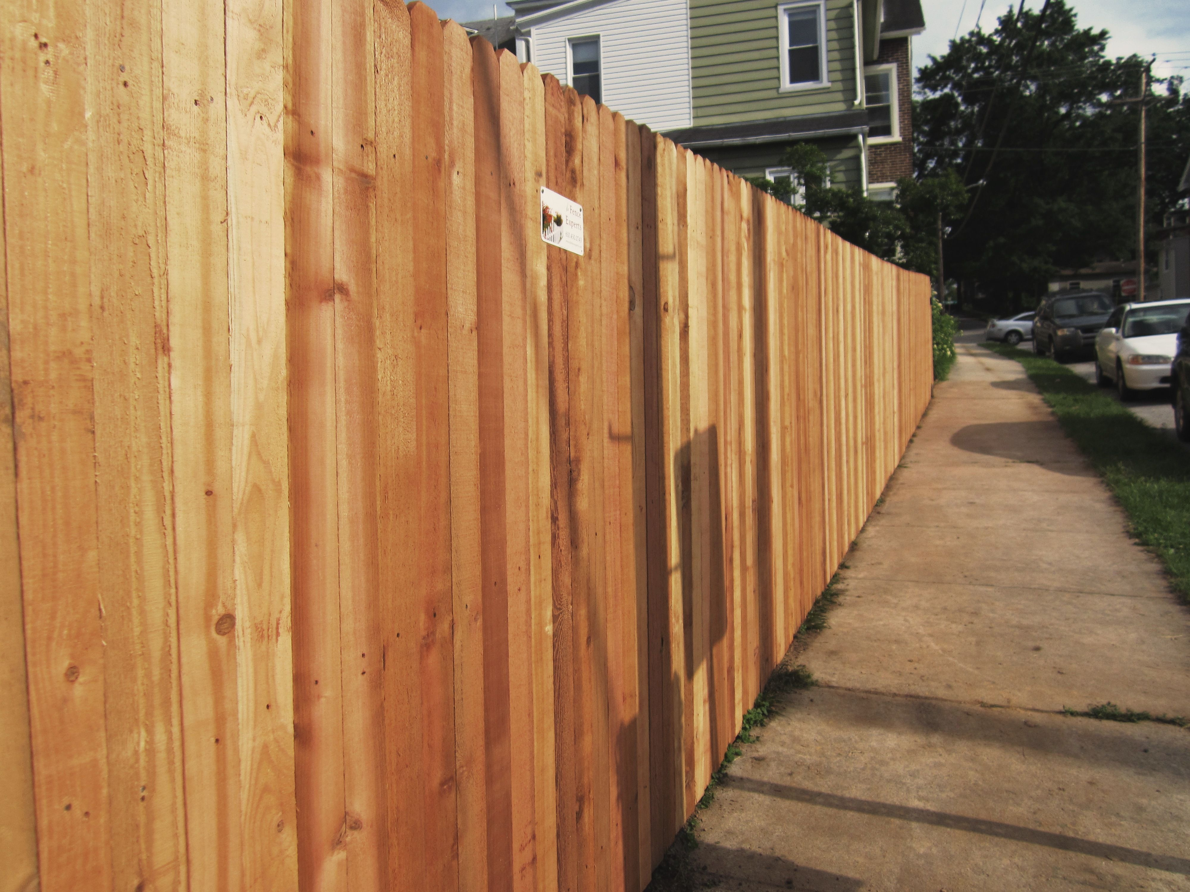 6 Red Cedar Solid Board Types Of Fences Red Cedar Installation