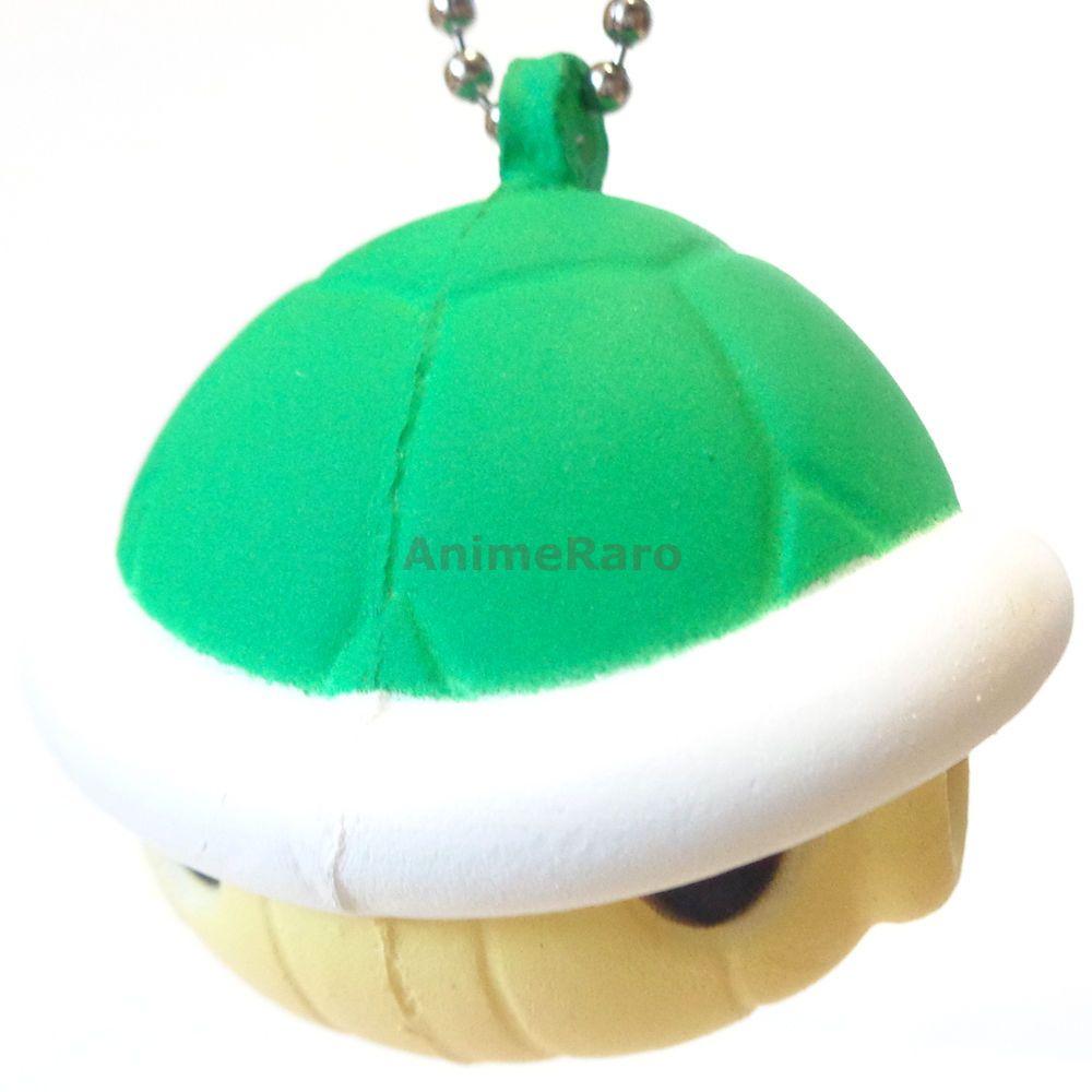 "Mario Kart 8 Funyufunyu Mascot Key Chain Figure 1.5"" GREEN SHELL Bandai Nintendo #Bandai"