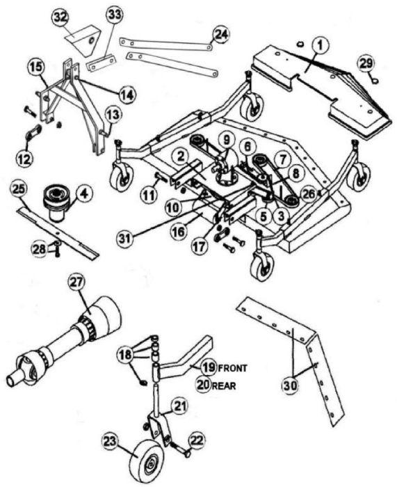 King Kutter Finish Mower Rfm Flex Parts Mower Parts Pinterest