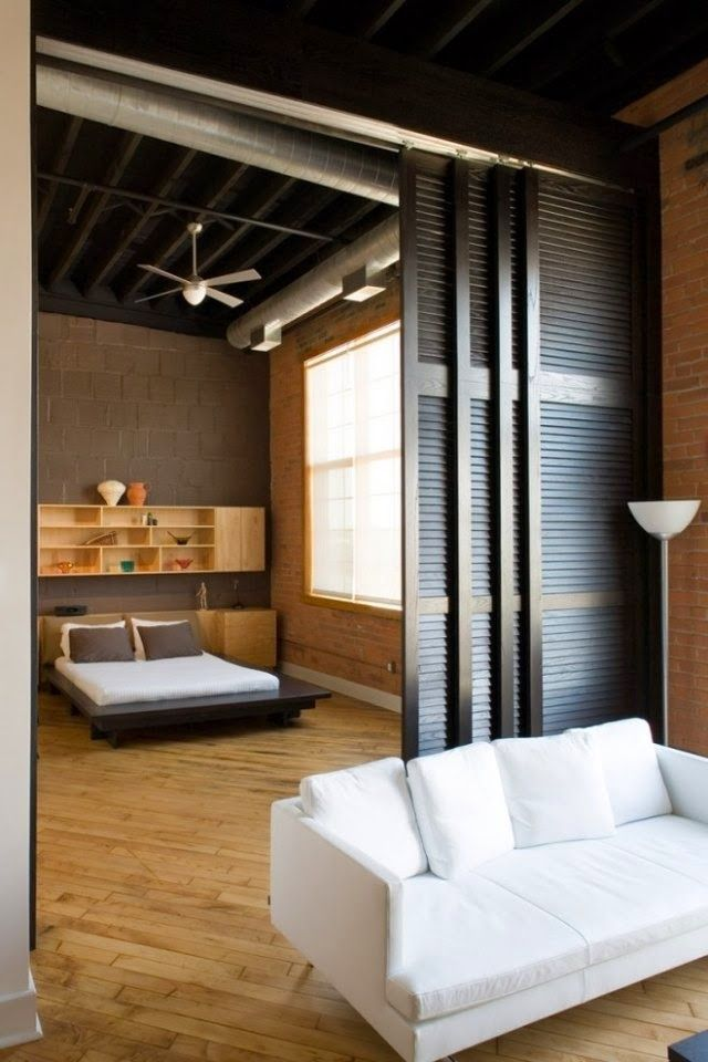 Attractive The Sliding Doors Divider. Bedroom Studio Apartment Design, Pictures,  Remodel, Decor And Ideas   Page 8