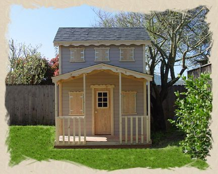 Playhouse plans with loft outdoor playhouse kits for Backyard clubhouse plans