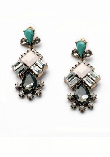 Geometric Teardrop Earrings In Pastel Colors 15,90€ #happinessbtq